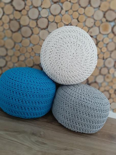 Pufa ze sznurka bawełnianego (1)